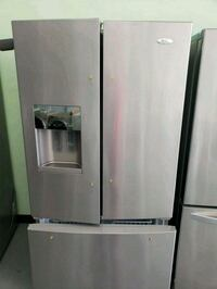 white Whirlpool french door refrigerator Essex, 21221