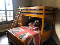 Wooden Double bed and twin bunk set with 2 chests, great shape. Trinity, 34655