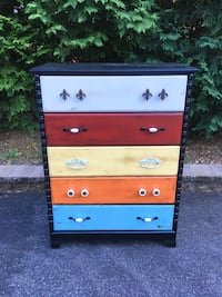 """Funky Five"" Vintage Dresser w/ Dovetail Drawers Monrovia, 21770"