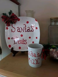 Santa plate and cup