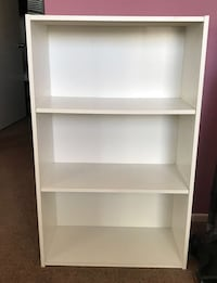 white wooden 3-layer shelf Rancho Cucamonga, 91730