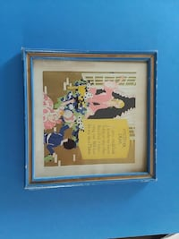 1930s mother's day print wooden frame