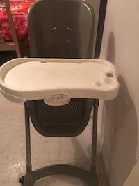 black and white evenflo highchair