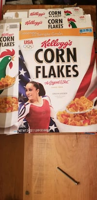 Collectable Corn Flakes cereal boxes