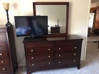 Black wooden dresser with mirror San Diego, 92124
