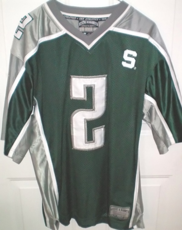 Michigan State Spartans Football #2 NCAA Jersey Size Large by Steve & Barry 3d415512-3fd6-4fe6-b3c0-e1cb48e3c453