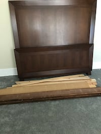 brown wooden headboard and footboard Alhambra, 91801