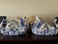 "16"" Blue ceramic Cosmic Sea Dragon in pairs  Kelowna, V1Y 7T1"