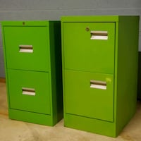 Retro Lime filing cabinets Boyds, 20841