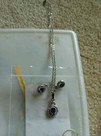 Blue sapphire necklace and earrings  Leesburg, 20175