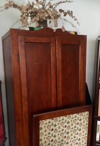 6 ft tall Cherry Wood Armoire