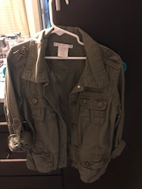 Small Olive green button-up jacket Columbia, 29206