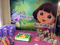 Dora party backdrop( only the backdrop not the table set up) New York, 11375