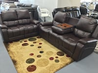 Brand New 2pcs reclining Sofa And Loveseat Set With Drop Down Table $769 Richardson, 75081