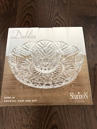 Crystal Dublin chip and dip from bowering retails for $40 Vaughan, L4L 5K8
