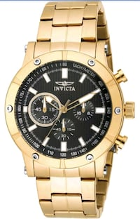 INVICTA GOLD & BLACK FACE CHRONOGRAPH WATCH. Los Angeles, 90063
