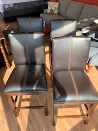 New Set of 4 Dark Brown Leather Dining Chairs Virginia Beach, 23462