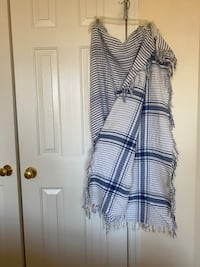 Blue and white scarf Tysons