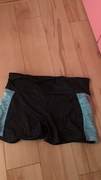 Women's black and blue shorts