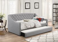 Brand new in box day bed with trundle in grey fabric Mississauga, L5N 3A4