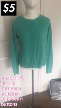 Turquoise pearl button up sweater cardigan Orem, 84058