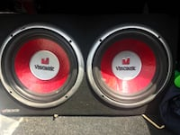 two red and gray subwoofers Baton Rouge, 70811