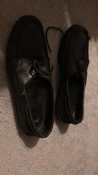 pair of black leather boat shoes Fairfax, 22030