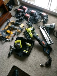 assorted-color power tool lot 47 km