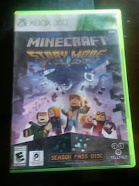 Xbox 360 Minecraft story mode game case