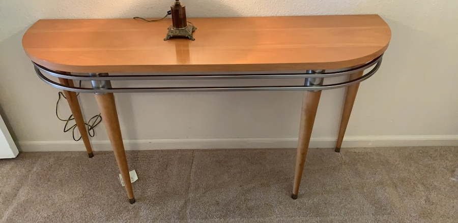 used ethan allen half moon table for sale in pleasanton letgo rh gb letgo com