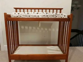 Wooden change table with mattress