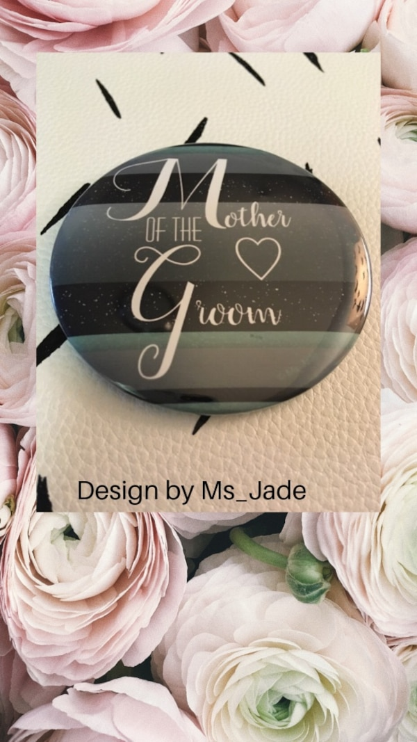 3 Inch Mother of the Groom Button Pin Wedding Gift
