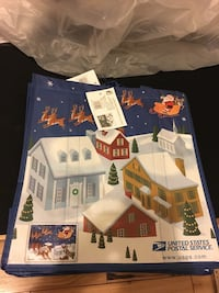 "USPS tote bag design based on 2012 ""stanza and Sleigh"" stamp-New San Jose, 95132"