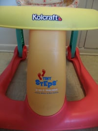 yellow, red, and green Kolcraft tiny steps 2-in-1 walker ROANOKE