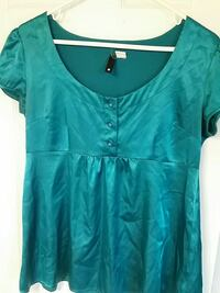 Teal Satin Top Guelph, N1E