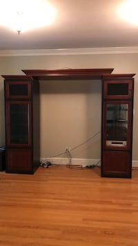 Black/cherry entertainment unit Vienna, 22182