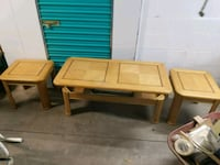 Table and two end tables Aurora, 80010