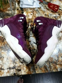 pair of purple-and-white Nike basketball shoes Surrey, V4N