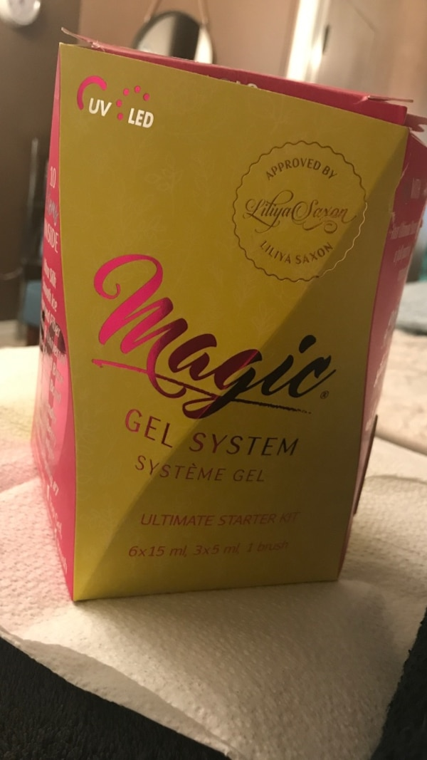 Magic gel nail system brand new paid 100 sell for 60.00 opened two jars to see Color bought wrong one at spa show