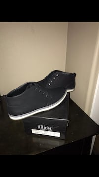 pair of black high-top sneakers with box Moreno Valley, 92555