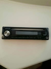 black Kenwood 1-DIN stereo head unit $15