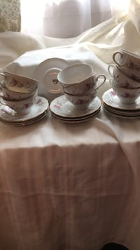 Teacups and saucers. $3.00 per set or $25.00 for the set of 11! Sayreville, 08859
