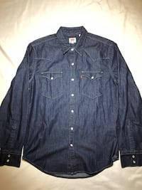 LEVI'S Classic Western Denim Shirt Men's Medium Vancouver, V6A