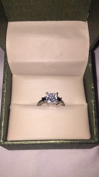 silver and diamond ring in box Edmonton, T6A 1C3
