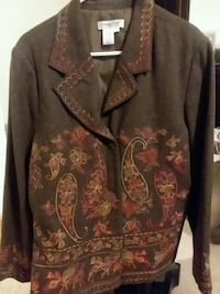 NEW-Coldwater Creek brown embroidered blazer 771 mi