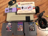 Nintendo NES System + 2 Controllers and 3 Games New Original 72 pin Connector  Works Perfectly Maple Ridge, V2X 3W1