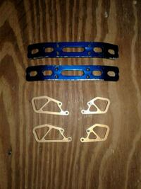 RC ALUMINUM FRONT AND REAR BUMPERS AND MOUNTS for T MAXX AND E MAXX