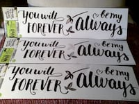 """""""You will forever be my always"""" new wall decals Brampton"""