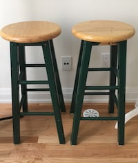 two brown wooden bar stools Toronto, M2M 0B5