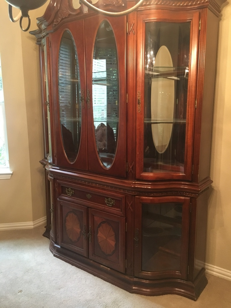 Used Large Wooden China Cabinet For Sale In Flower Mound   Letgo